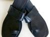 Damskie skórzane klapki japonki skóra boho etno 37 38 czarne