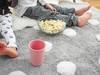 Dywan dziecięcy w białe kropeczki BAWEŁNIANY w 100% KOLORY