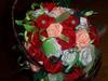 koszyczek z różyczkami