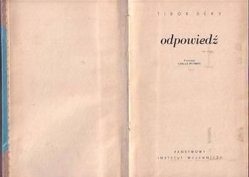 (8638) ODPOWIEDŹ – TIBOR DERY