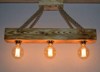 Lampa wisząca stara belka drewniana LOFT vintege RETRO