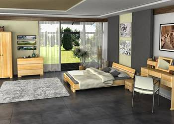 Łóżko niskie sosna 180x200 SA04 - nawet w 7 dni!