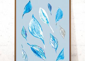 fajny plakat do pokoju,niebieski plakat,skandynawski plakat