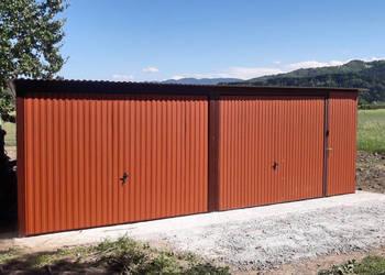 Garaż blaszany 6x5 podwójny blacha w kolorze DOSTAWA GRATIS