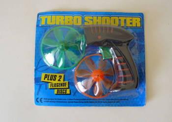 Pistolet do puszczania wiatraczków TURBO SHOOTER! NOWY!