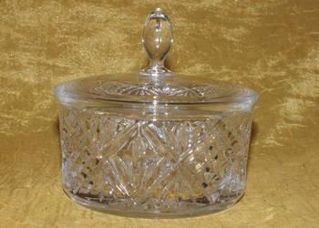 Bardzo ładne kryształowe puzderko/szkatułka