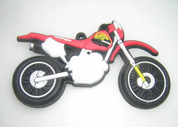 Motocykl motor czerwony magnes na lodówkę