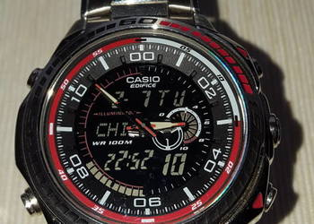 Zegarek Casio Edifice EFA-121D, termometr i illuminator!