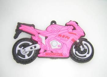 Honda różowa motor motocykl magnes na lodówkę