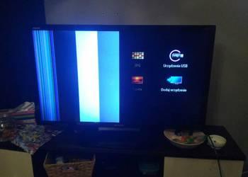 sprzedam uszkodzony tv sharp lc-40lx630e