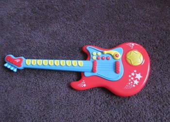 Gitara Elektroniczna Czerwona dla dziecka jak nowa