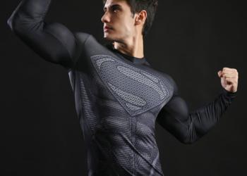 Koszulka Termoaktywna AVENGERS NA SIŁOWNIE Superman roz. M