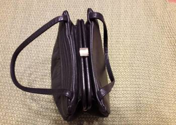 Czarna skorzana torebka RETRO na bigiel na sprzedaż  Wejherowo