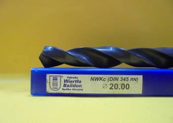 Wiertło NWKc Φ 20mm HSS DIN 345 RN !!! NOWE !!!