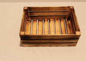skrzynki drewniane  opalane wysyłka