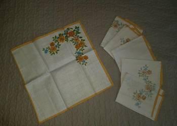 PRL design LEN bawełna - serwety serweta, obrus retro vintag