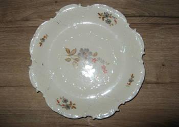 Talerz dekoracyjny duży * płaski * talerzyk ozdobny na ciast