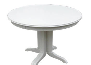 Stół biały okrągły na jednej nodze rozkładany 90 nowy