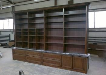 Regał, biblioteka na zamówienie, producent mebli