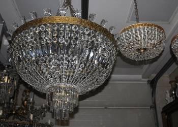 Ogromna PLAFONIERA 90cm WŁOCHY Kryształy Oryginał Plafon
