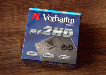 Dyskietki Verbatim 2HD opak. i zafoliowane fabrycznie