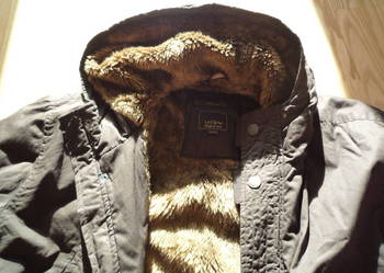 TATUUM r XXL kurtka z kapturem BRĄZ, JAK NOWA na zimę MRÓZ