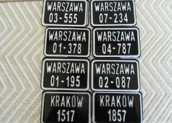 Tablice Rej. do starych rowerów - Replika tablic 1947/1960r