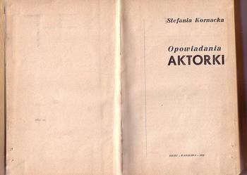 (7981) OPOWIADANIA  AKTORKI – STEFANIA KORNACKA