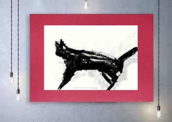 Nowoczesna grafika do pokoju,czarno biały plakat do sypialni
