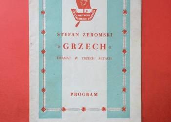 """( 753 ) Program """"Grzech"""" Żeromski"""