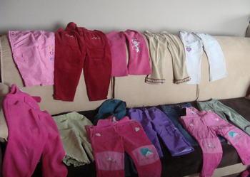 spodnie dziewczęce rozmiar 86 - 13 par