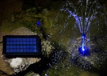 FONTANNA.Pompa SOLARNA.Podświetlenie LED.Oczko wodne.Kaskada na sprzedaż  Łódź