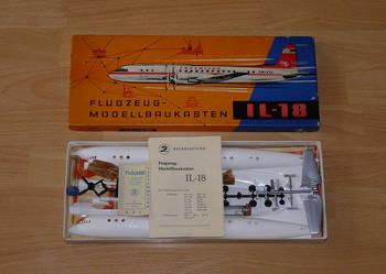 Ił-18 Biały kruk !!! 1:100 Antyczny rarytas!