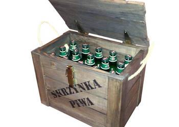 SKRZYNKA na PIWO - zamykana - 15 butelek