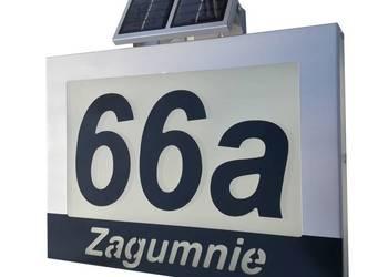 Tablica Adresowa Numer Domu Solar Świeci Zawsze ALU LED