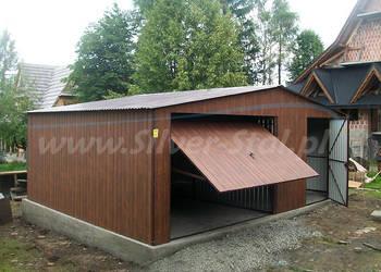 Garaż blaszany drewnopodobny 6x6 blacha orzech lub złoty dąb