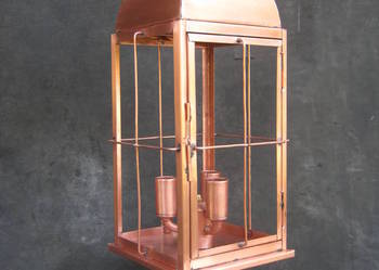 Ręcznie robiona lampa miedź hand made lantern,kupfer lampe
