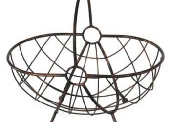 9af2884eb37f59 Koszyk metalowy metal + drewno ciemny turkus Kanie - Sprzedajemy.pl