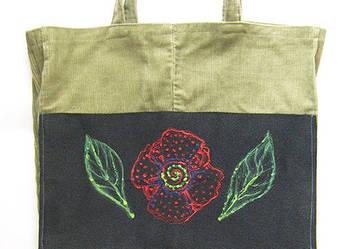 Torba sztruksowa na zakupy, fajna torba na zakupy,eko torba,