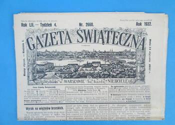 12. Gazeta Świąteczna Rok wydania 1932 - Bezpłatna wysyłka.