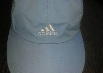 Czapeczka z daszkiem Adidas , bdb stan , delikatny błękit