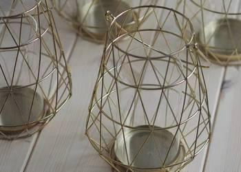 Szklane dekoracje GEOMETRYCZNE lampiony, szkatułki, skrzynki