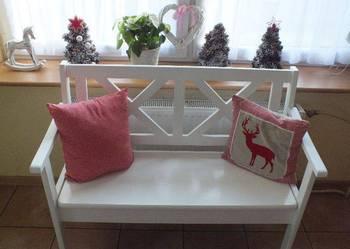 Ława ławka biała prowansalska drewniana nowa modna