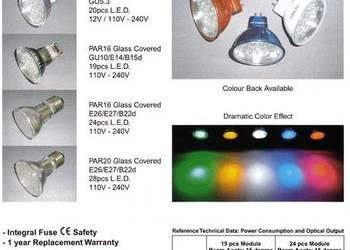 LED 1,3W (GU5,3-12V; GU10-230V)