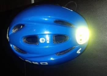 Niebieski kask rowerowy BTWIN