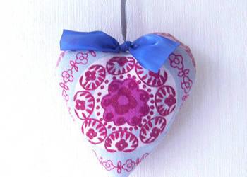 Zawieszka dekoracyjna serduszko fioletowe