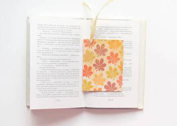 ładna zakładka do ksiązki,jesienna zakladka do książki decou