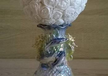 Ozdobna biała kula na ślub wesele komunię chrzest-rękodz.