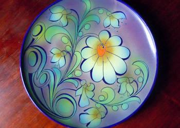 Polska Ceramika Użytkowa lata 60 -te, talerz dekoracyjny