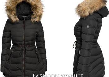 Kurtka Damska Zimowa Asymetryczna CZARNA #109 fashionavenue